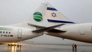 Două avioane de pasageri au intrat în coliziune pe aeroportul din Tel Aviv