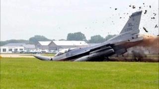 Avion F-16, prăbuşit în Nevada. A patra tragedie de acest fel, în mai puţin de 24 de ore