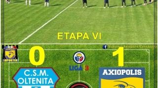 Axiopolis a urcat pe locul secund, FC Viitorul II nu a mai jucat