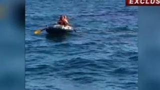 Turist în pericol: Curenții l-au tras cu barca în larg!