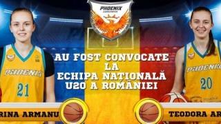 Două baschetbaliste de la CS Phoenix, convocate la lotul U20 al României