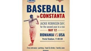 12 mai. Stadionul Portul. Baseball, România - America!