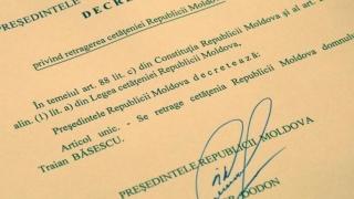 Traian Băsescu rămâne fără cetățenia R.Moldova