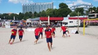 Naţionala de fotbal pe plajă a României, în cantonament la Eforie Nord