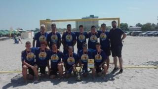 Juniorii A de la HC Dobogea Sud, campioni naţionali la handbal pe plajă