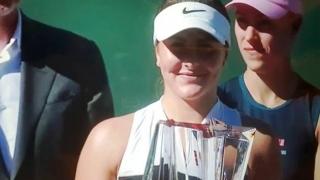 Bianca Andreescu s-a impus la Indian Wells şi le-a mulţumit fanilor în limba română