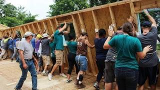 Big Build 2018, la Cumpăna: Opt case ridicate în cinci zile, pentru nevoiași