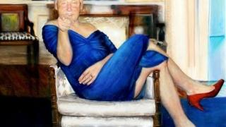 Tablou bizar cu Bill Clinton în rochie, găsit în casa miliardarului care s-a sinucis în închisoare