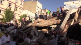 Doi morți și 24 de răniți, noul bilanţ în urma prăbuşirii unui bloc în Maroc