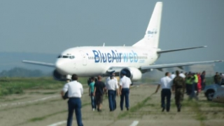 Panică în avionul Cluj - București. Un motor a luat foc!