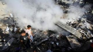 Ținte din Fâșia Gaza, bombardate de armata israeliană