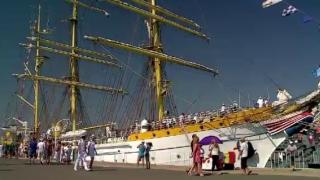 1040 de mile marine parcurse de ''Bricul 'Mircea'' în marșul de instrucție din 2018. Prima escală, portul Bari