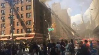 Explozie puternică în New York, urmată de un incendiu de proporții