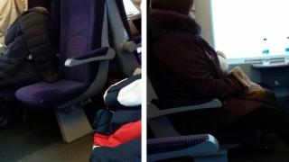 Călători congelați în tren!