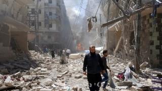 Alep - un oraș eliberat, dar bombardat