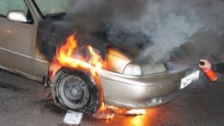 A luat foc o mașină din Cogealac!