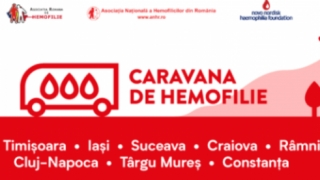 Caravana de Hemofilie, la Constanța: Împreună pentru 0 sângerări!