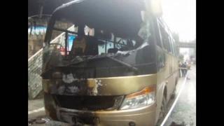Arși de vii în autocar, în China