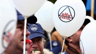 Cartel Alfa protestează în Piața Victoriei
