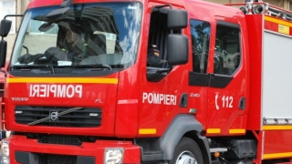 Casă cuprinsă de flăcări în Mihail Kogălniceanu
