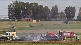 Avion militar prăbușit în Spania