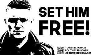 Cazul revoltător al unui deținut politic în U.K. Free Tommy Robinson!
