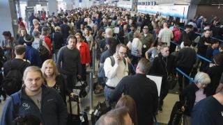 Blocați pe aeroporturi în SUA