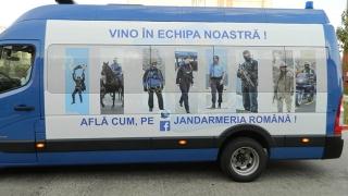Caravana Jandarmeriei s-a oprit și la Constanța!