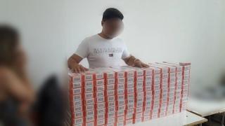 """Circa 280.000 de țigări îşi aşteptau cumpărătorii ilegitimi. Polițiștii le-au """"ars"""""""