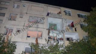 Clipe de coșmar! Deflagrație puternică într-un bloc din Bistrița