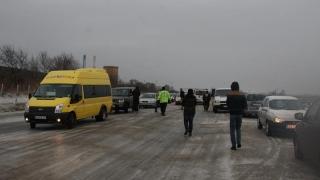Persoanele blocate la Hârșova, aduse la Constanța