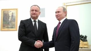 """Dodon și Putin, """"best friends"""" cu ocazia împlinirii a 25 de ani de relații diplomatice"""