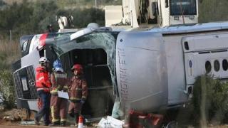 Doi morţi şi peste 40 de răniţi, inclusiv un român, într-un accident în Spania