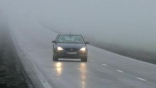 COD GALBEN de ceață în Dobrogea. Trafic dificil pe A2.