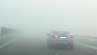 Ceață densă pe pe Autostrada A2 București – Constanța