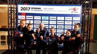Echipa feminină a României, campioană europeană la tenis de masă