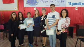 """Elevii constănțeni au câștigat Concursul Național """"Made for Europe""""!"""
