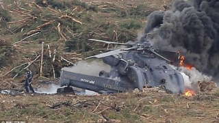 Elicopter prăbușit în Rusia