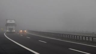 Ceața densă îngreunează traficul pe autostrada A2 București - Constanța