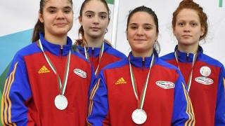 Farista Raluca Drăghici, vicecampioană europeană de cadete cu echipa de floretă a României
