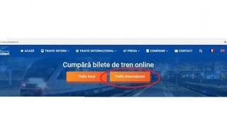 CFR Călători: Vânzare online pentru bilete de călătorie internațională!