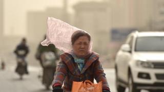 Furtună de praf în nordul Chinei
