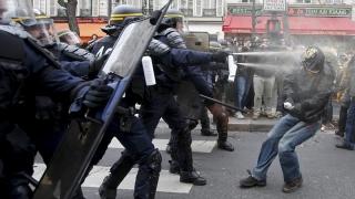 Greve și proteste violente la Paris
