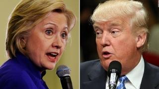 Hillary Clinton are doar 1% avans în faţa lui Donald Trump