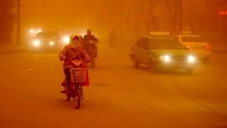 China: O furtună de nisip a afectat 1,5 milioane de km pătraţi