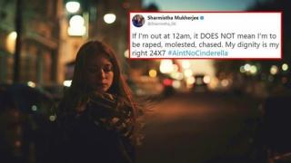 India - #AintNoCinderella: selfie-uri, la miezul nopții, pentru a sprijini cauza femeilor hărțuite