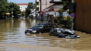 Inundații în Serbia