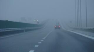 Trafic rutier în condiții de ceață densă pe A2 și pe alte drumuri județene