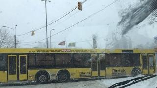 Autobuz RATC, blocat în intersecția de la Delfinariu