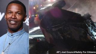 Jamie Foxx a salvat un bărbat dintr-o mașină în flăcări